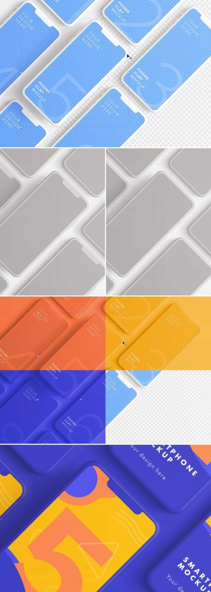 iphone smartphone clay layout 5 mockup preview scaled