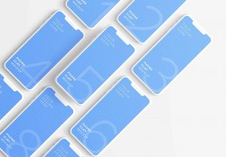 iphone smartphone clay layout 5 mockup thumbnail