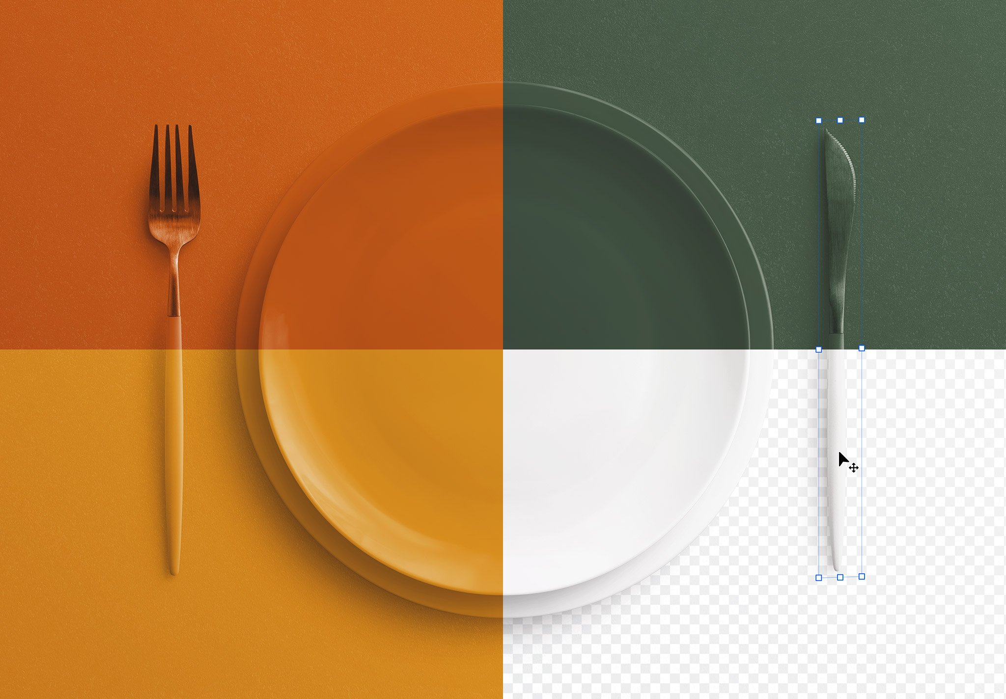 table set mockup plate and cutlery image02
