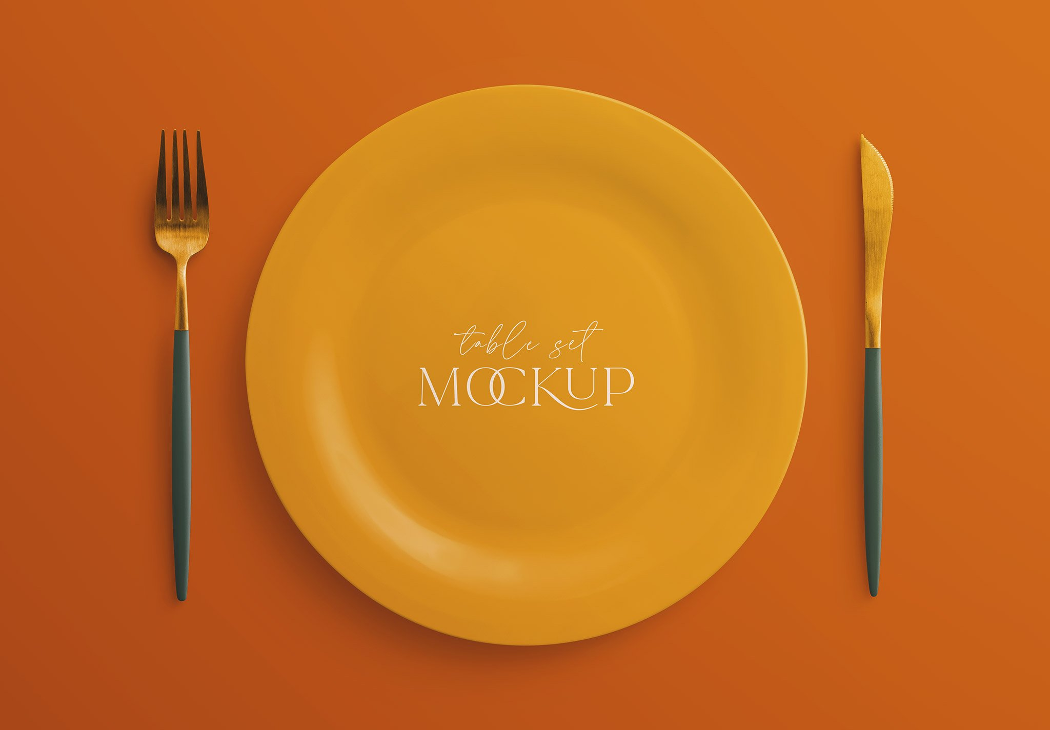 table set mockup plate and cutlery image03