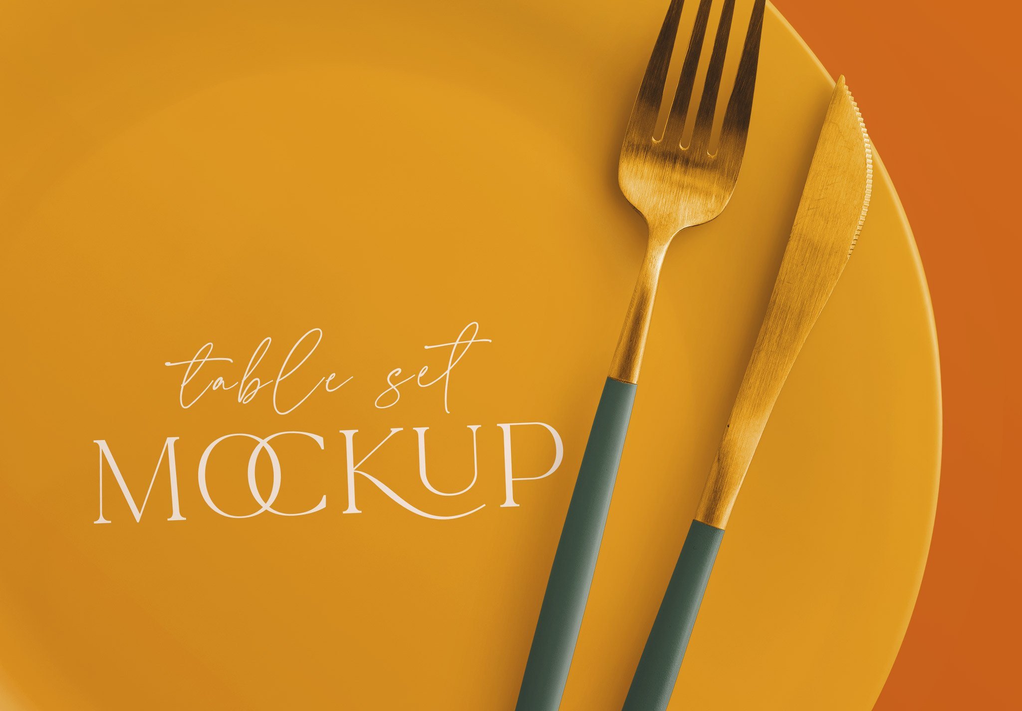 table set mockup plate and cutlery image04
