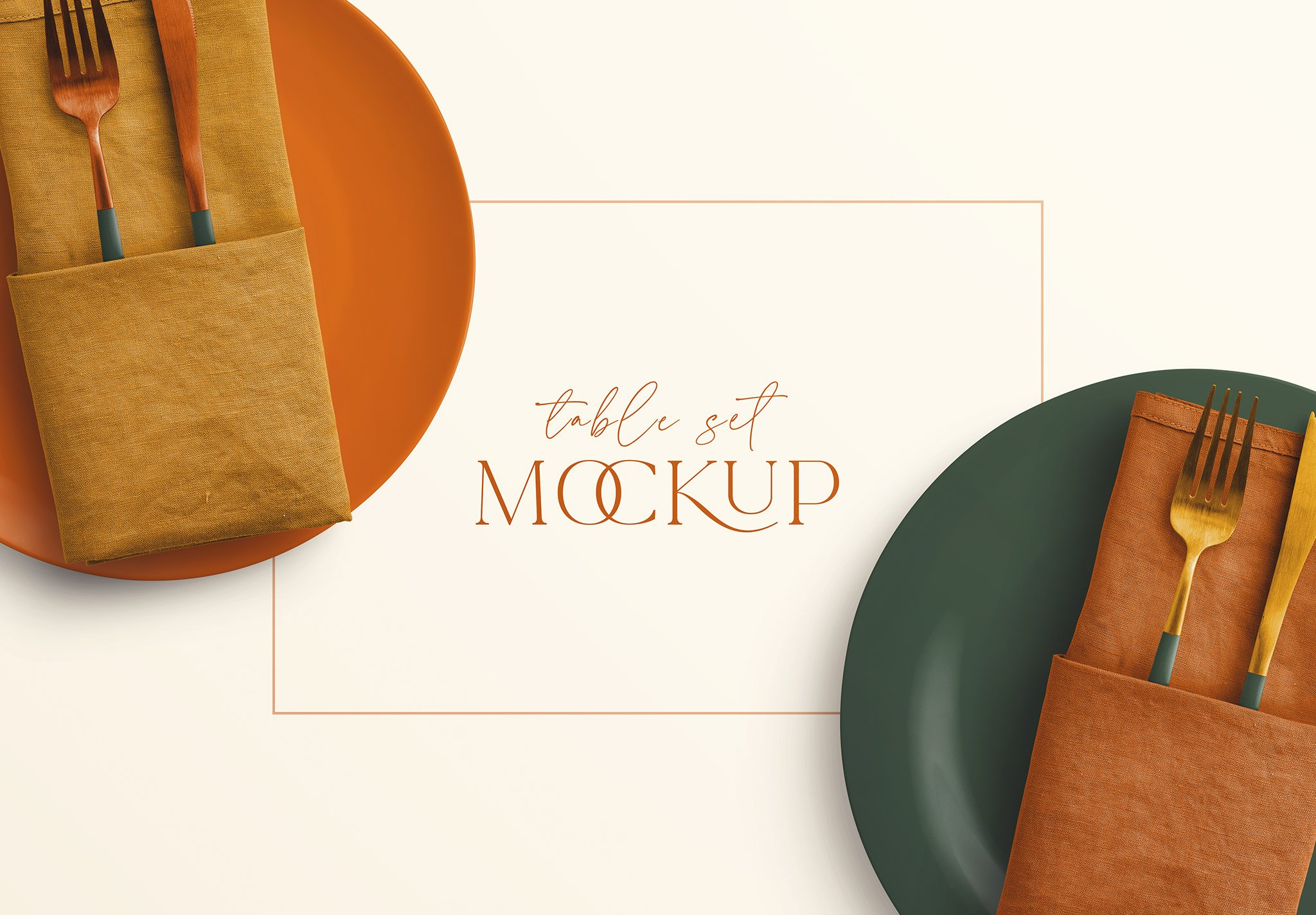 table set plate mockup and cutlery image03