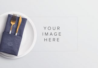 table set plate mockup and cutlery thumbnail