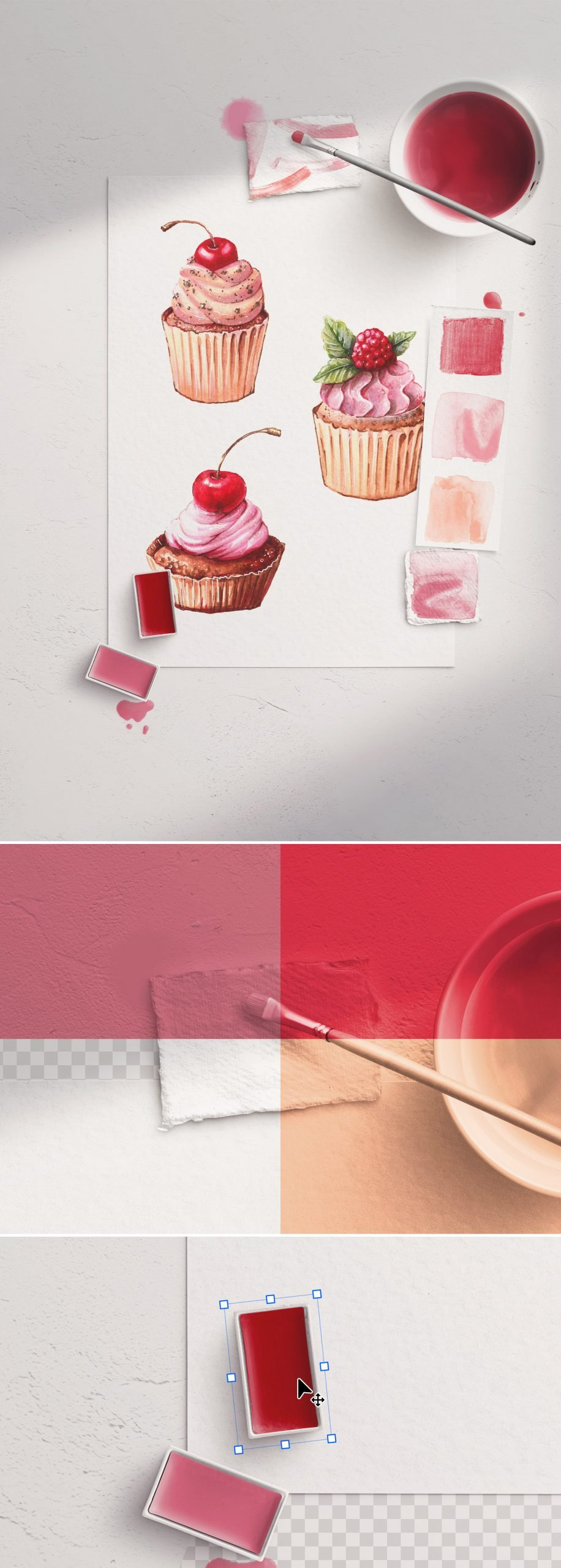 watercolor mockup scene creator 3 preview1 scaled