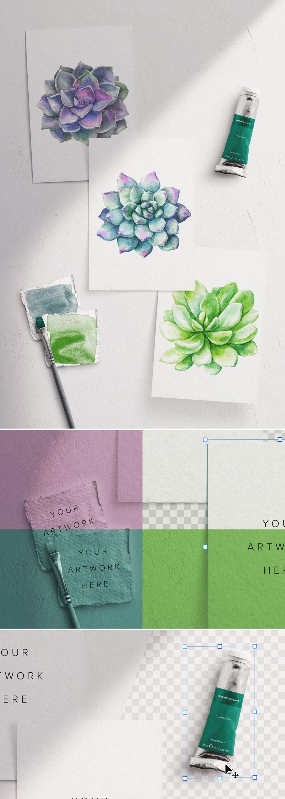 watercolor mockup scene creator 5 preview1 scaled