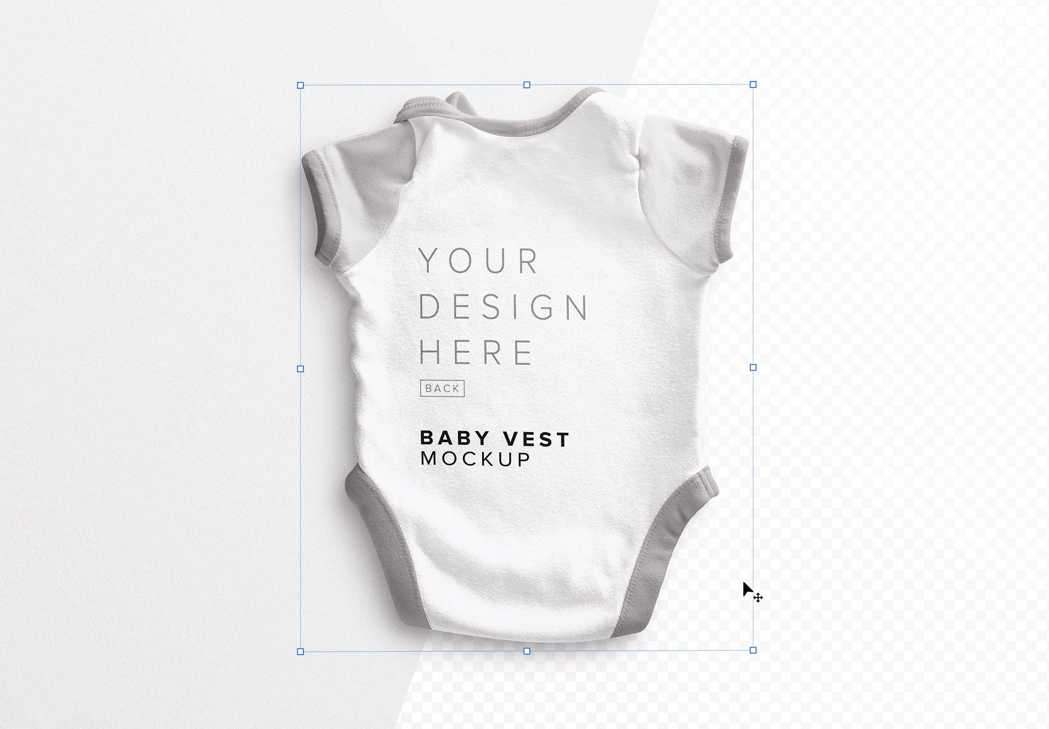 Baby Vest Back Mockup Image01