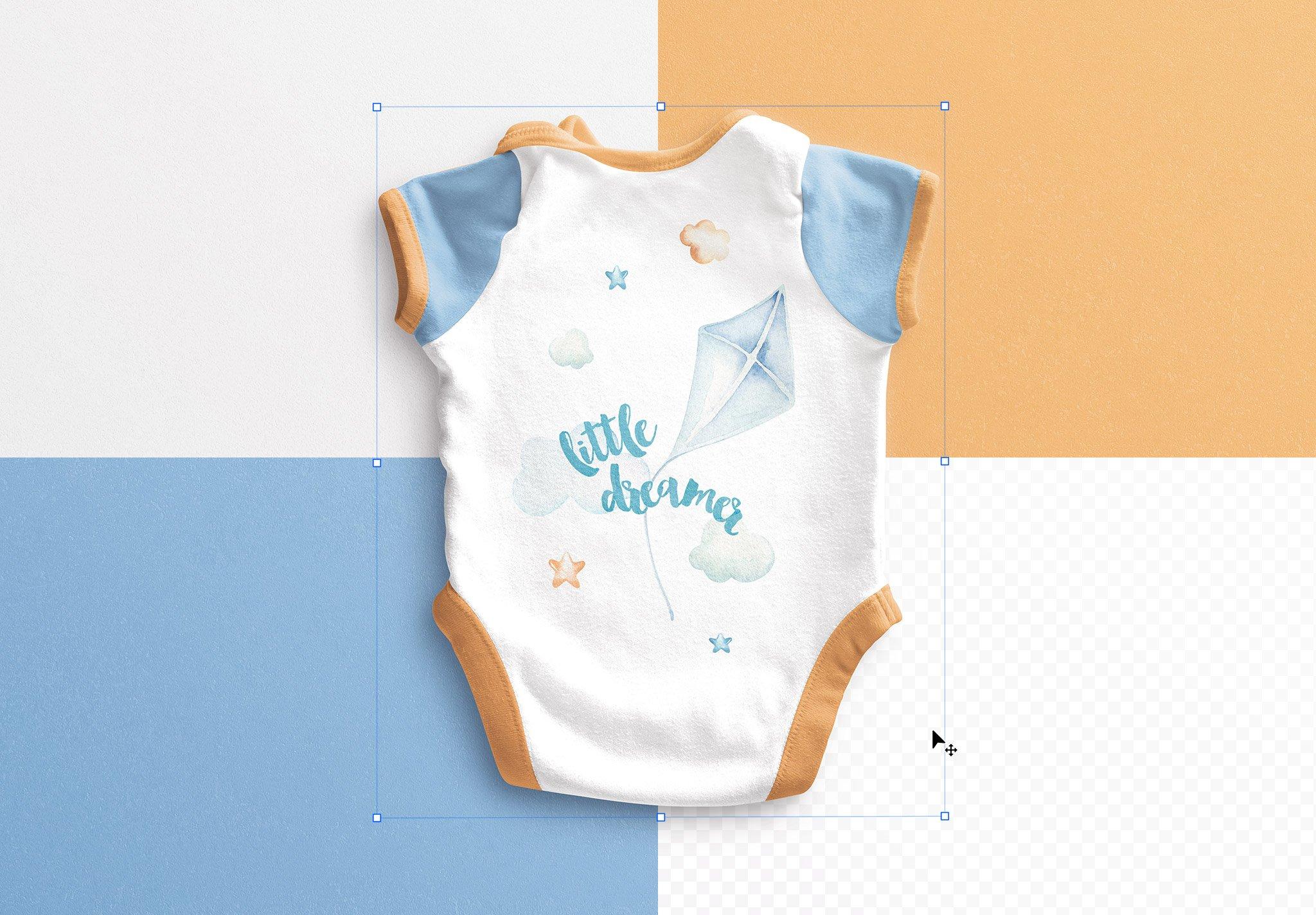 Baby Vest Back Mockup Image02
