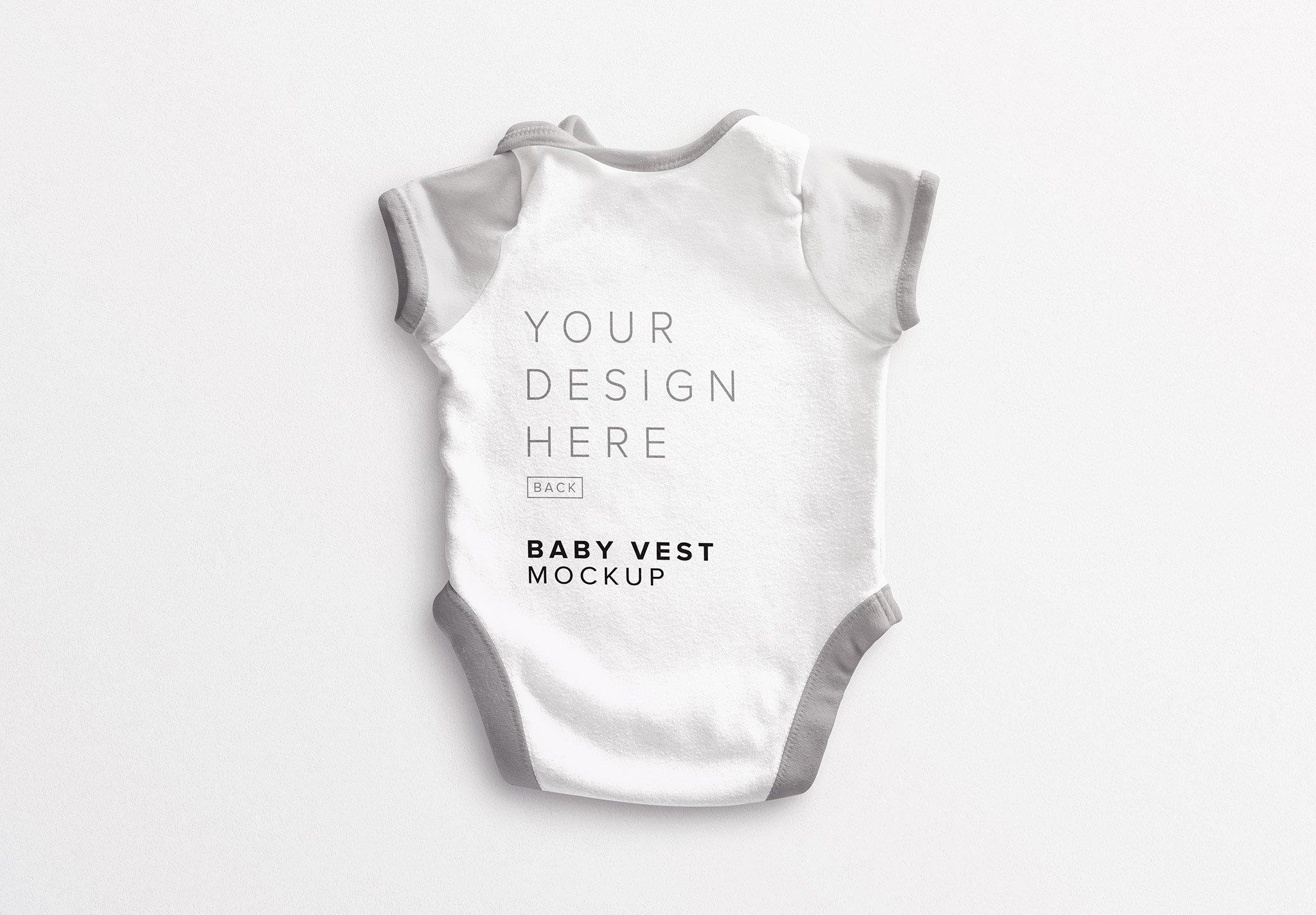 Baby Vest Back Mockup Thumbnail