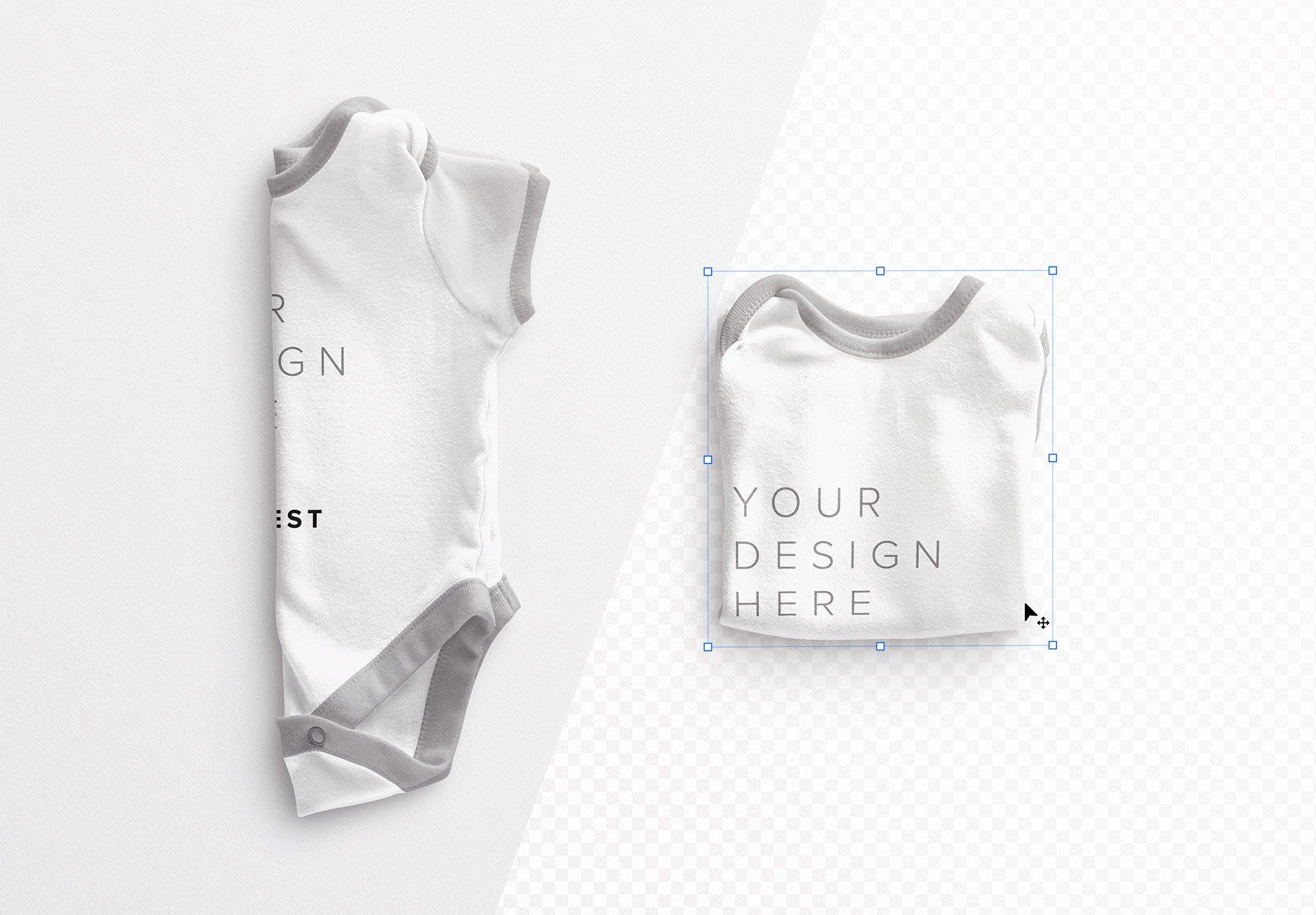 Baby Vest Folded Mockup Image01