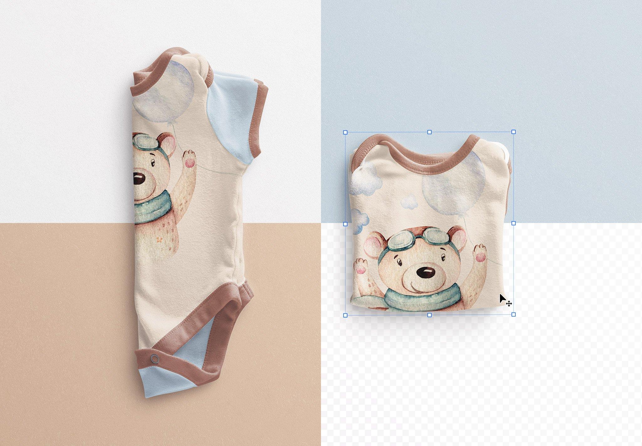 Baby Vest Folded Mockup Image02