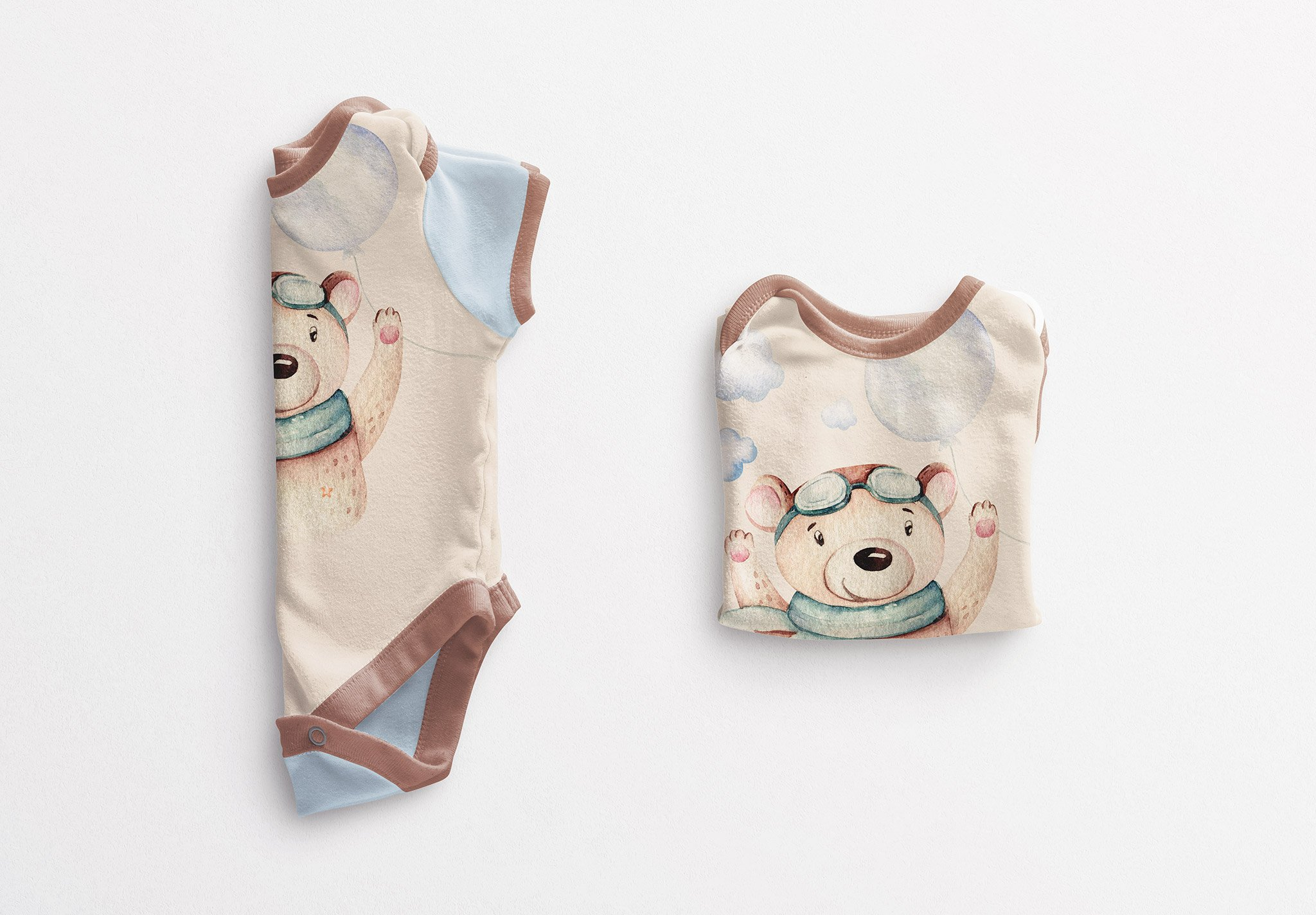 Baby Vest Folded Mockup Image03