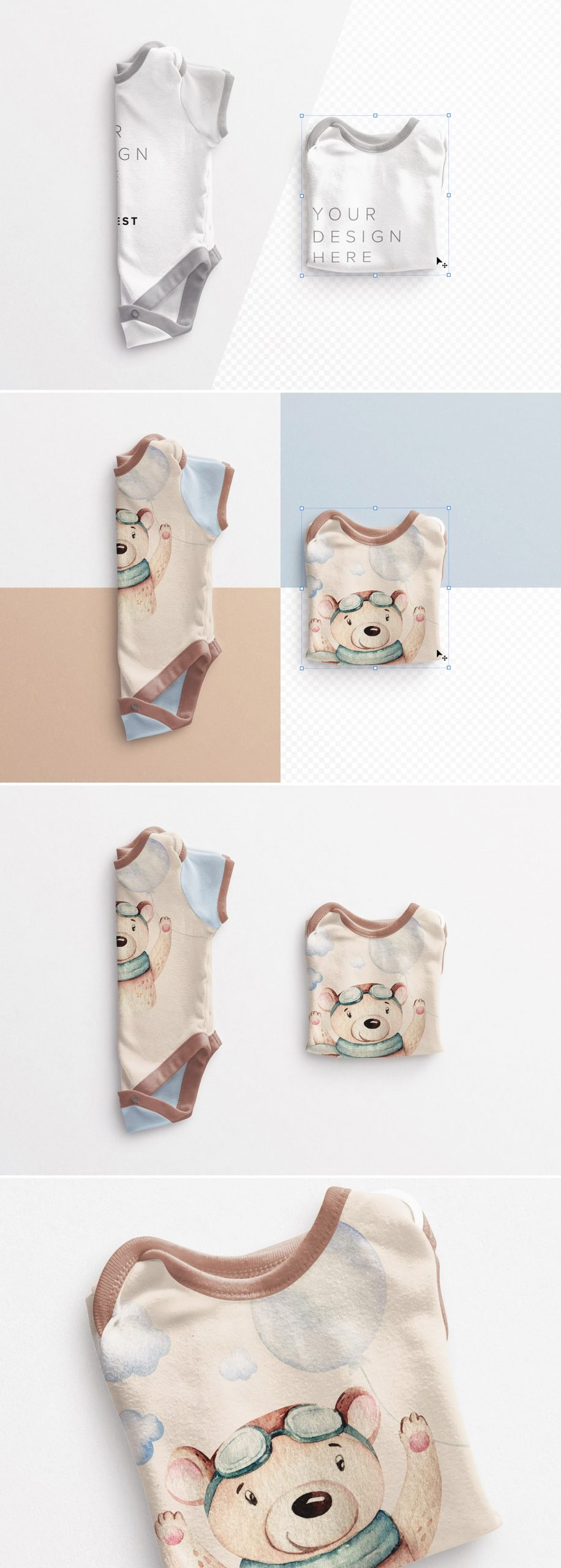 Baby Vest Folded Mockup Preview scaled