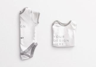 Baby Vest Folded Mockup Thumbnail