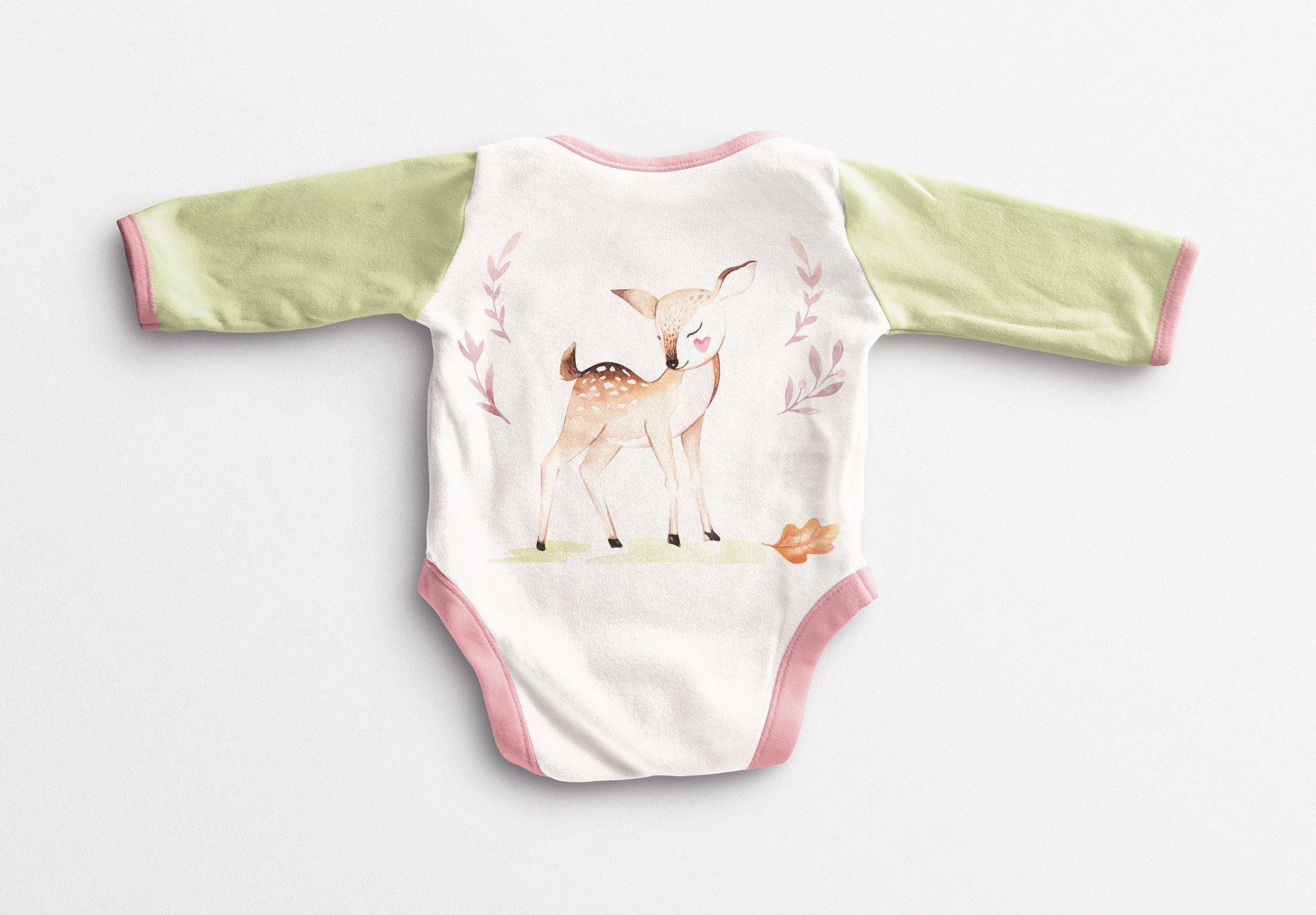 Baby Vest Long Sleeves Back Mockup Image03