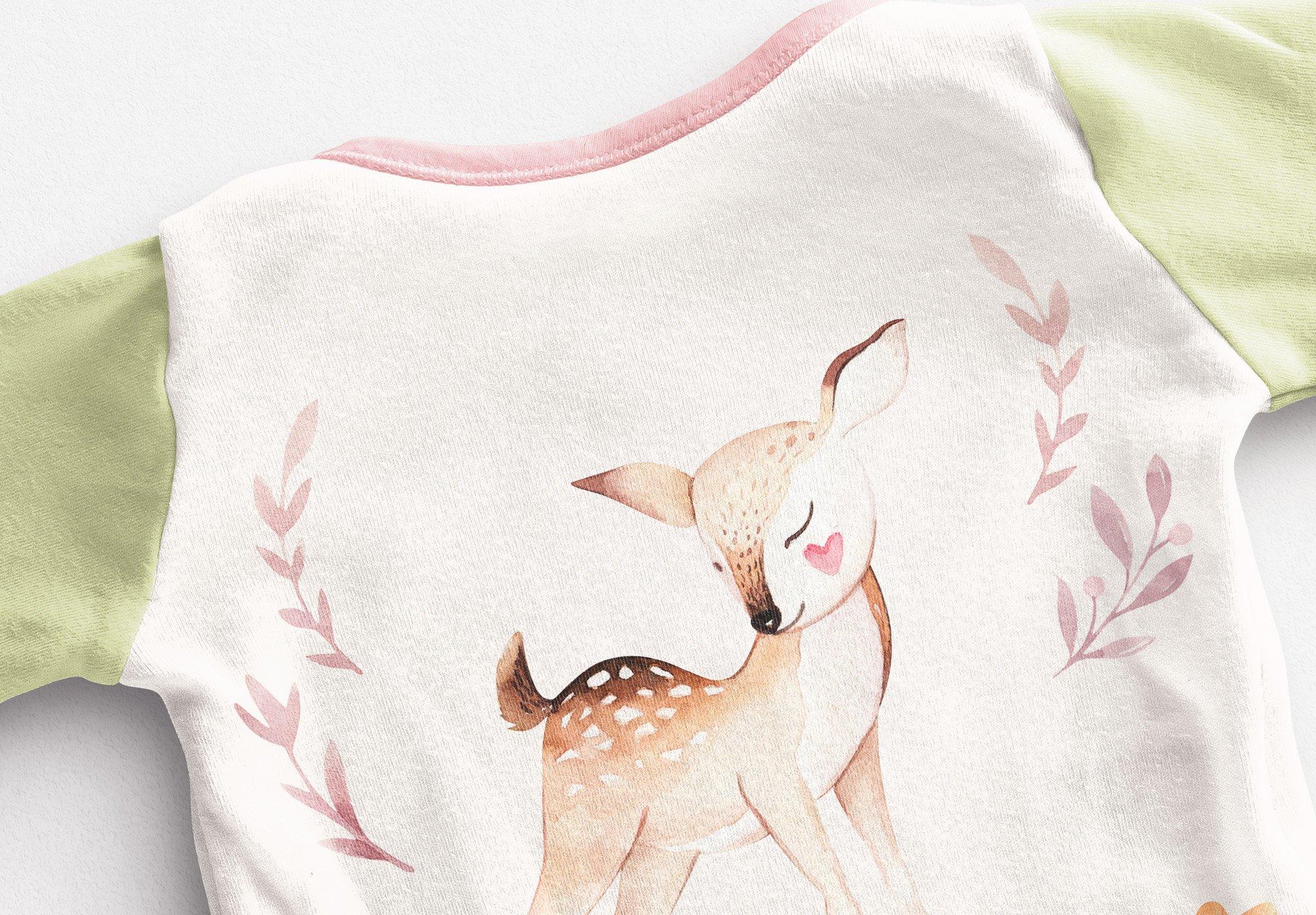 Baby Vest Long Sleeves Back Mockup Image04