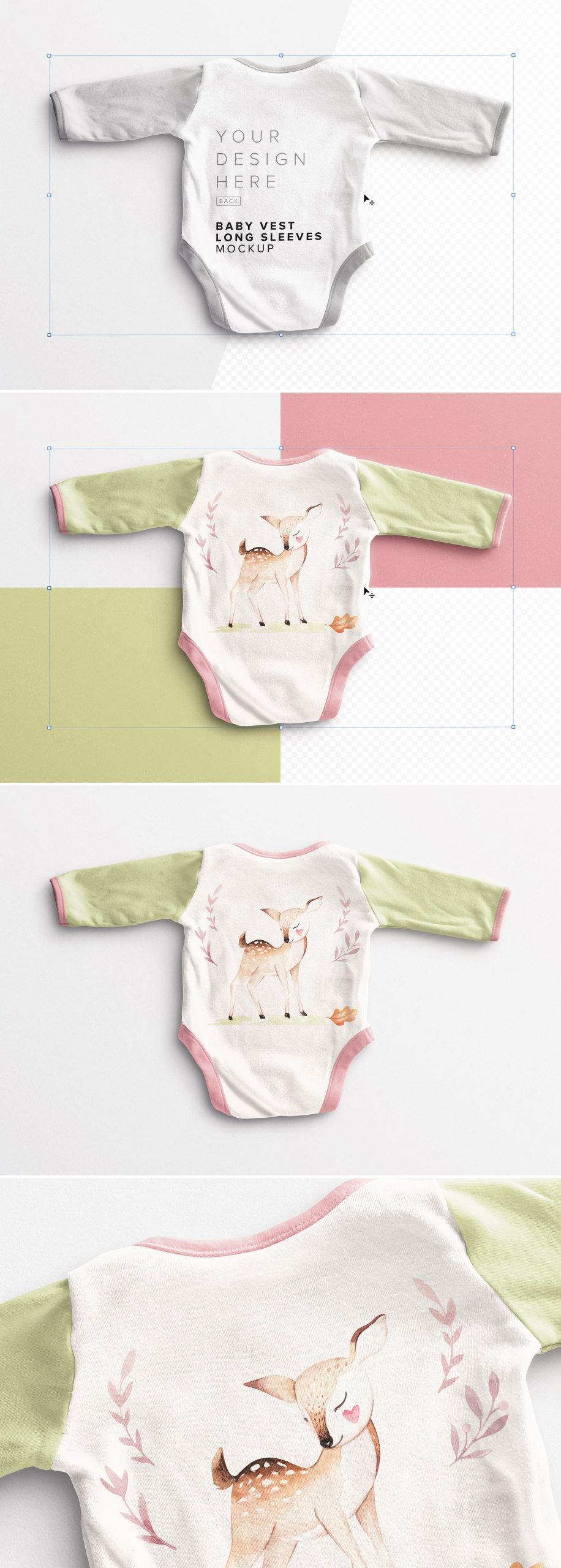 Baby Vest Long Sleeves Back Mockup Preview scaled