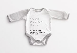 Baby Vest Long Sleeves Mockup Thumbnail