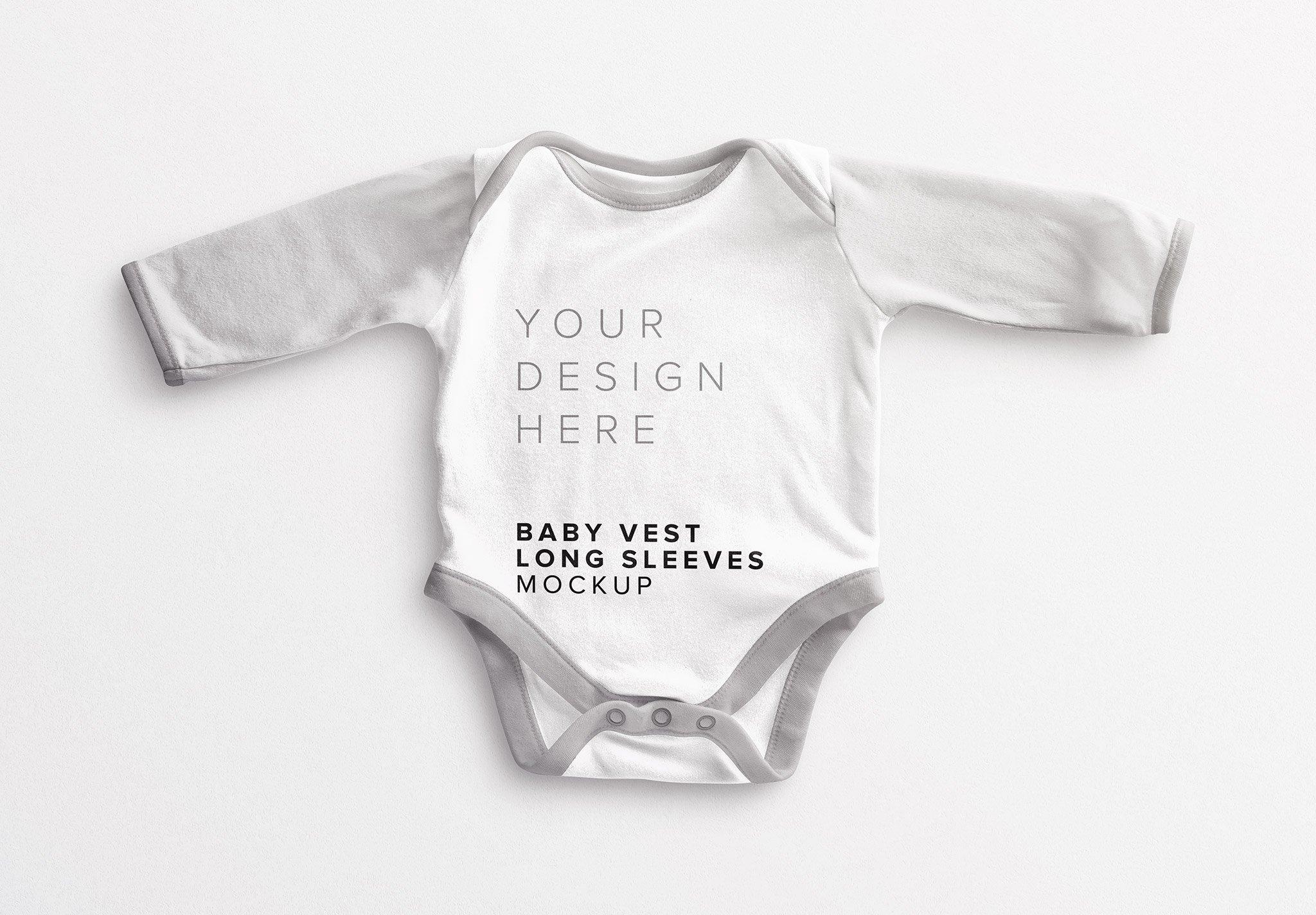 Baby Vest Long Sleeves Mockup Thumbnail