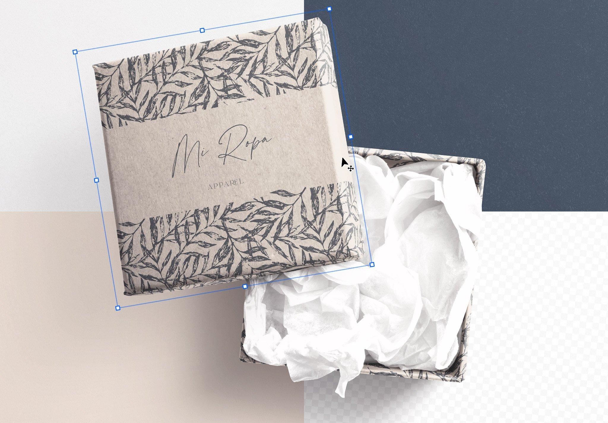 Gift Box with Lid Mockup Image02