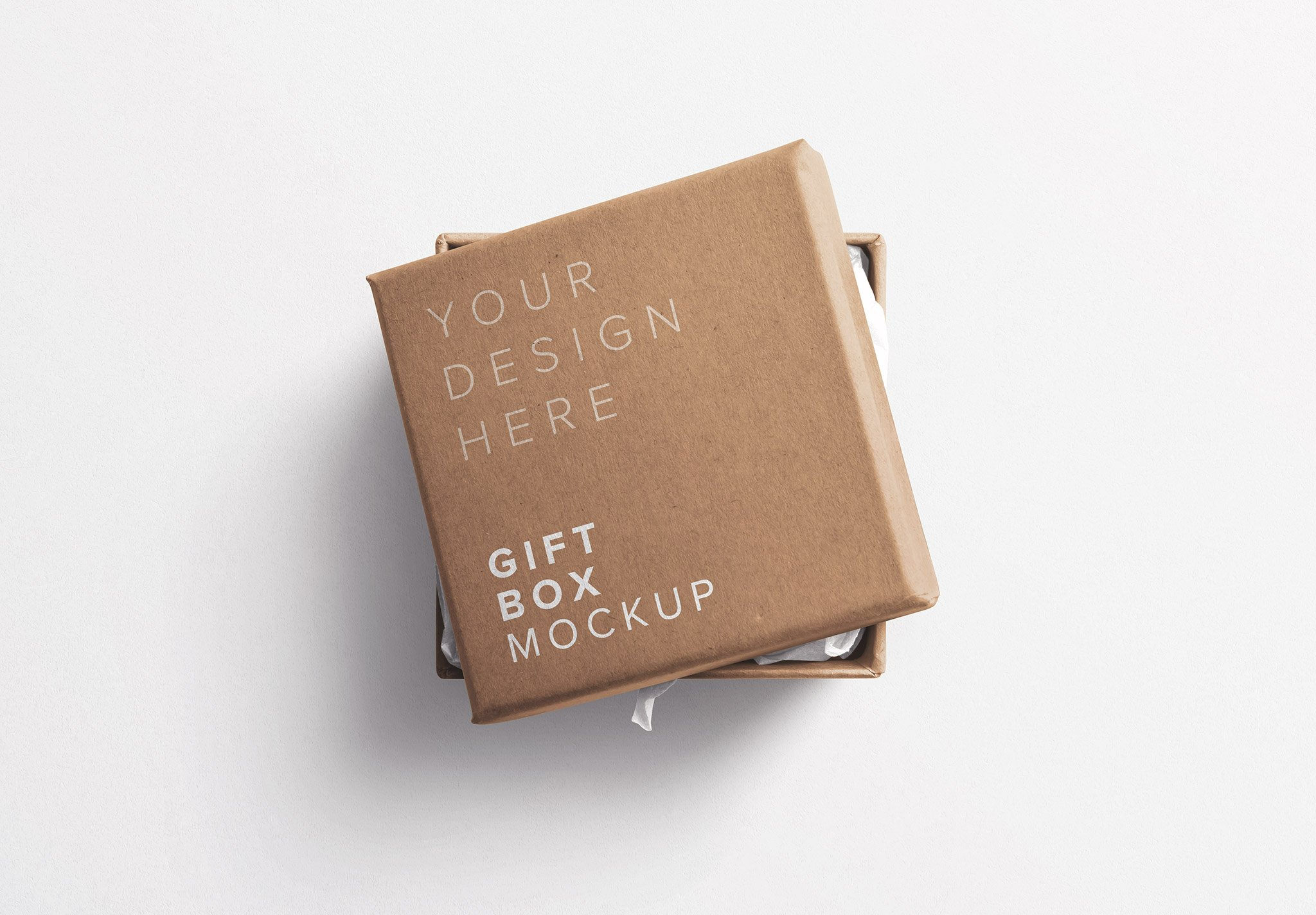 Gift Box with Lid Mockup Thumbnail