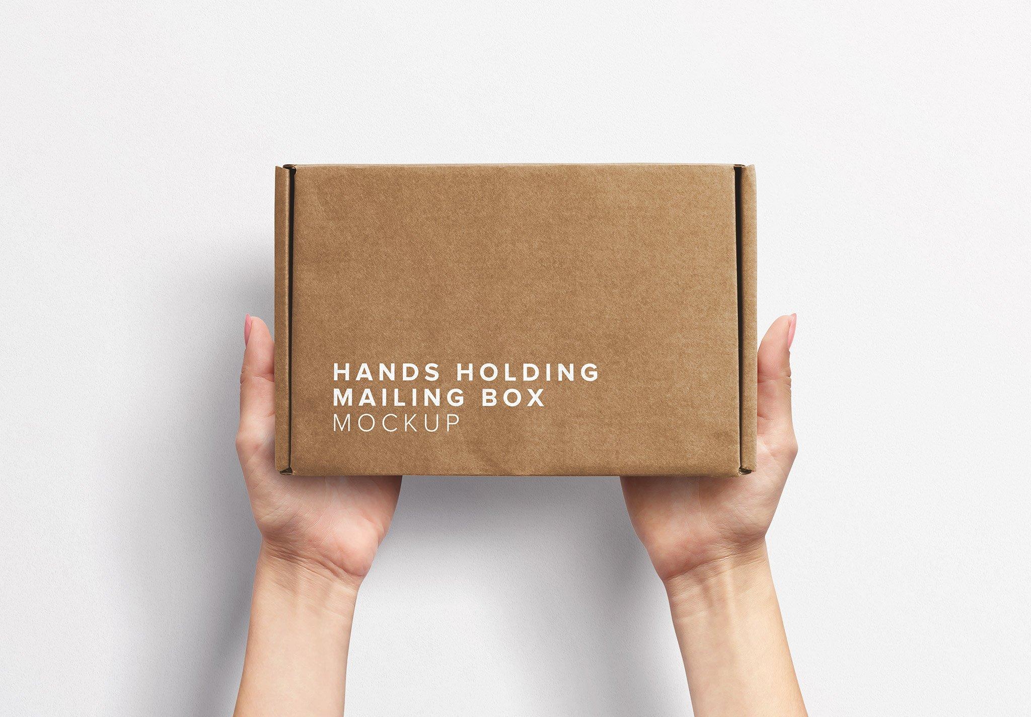 Hands Holding Postal Box Thumbnail