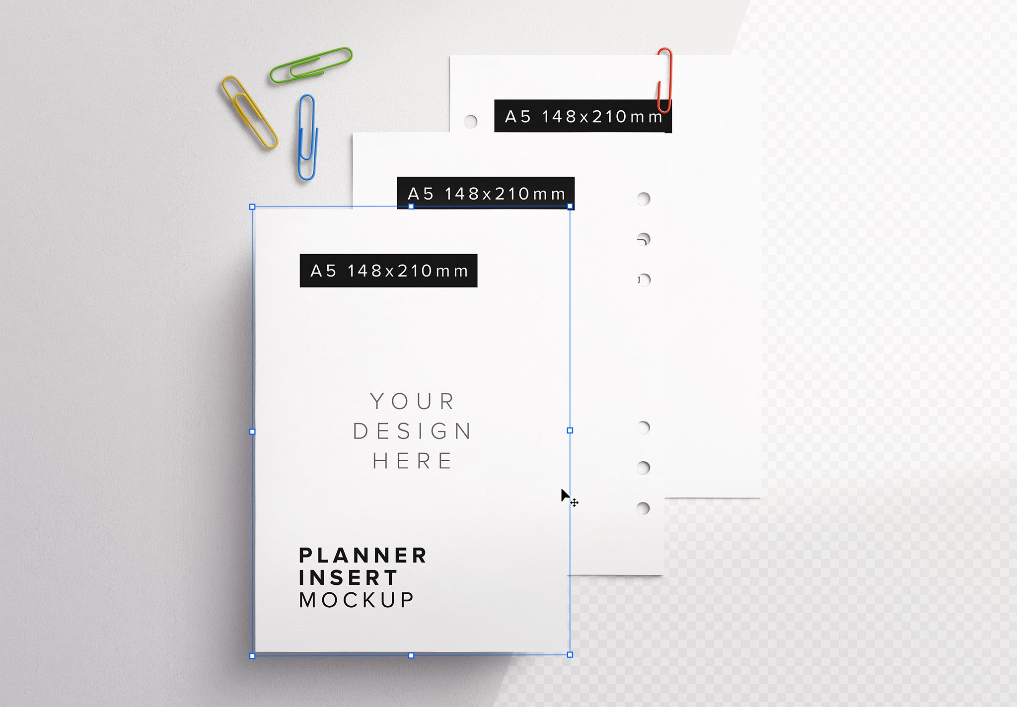 Planner Inserts A5 Size Mockup Thumbnail