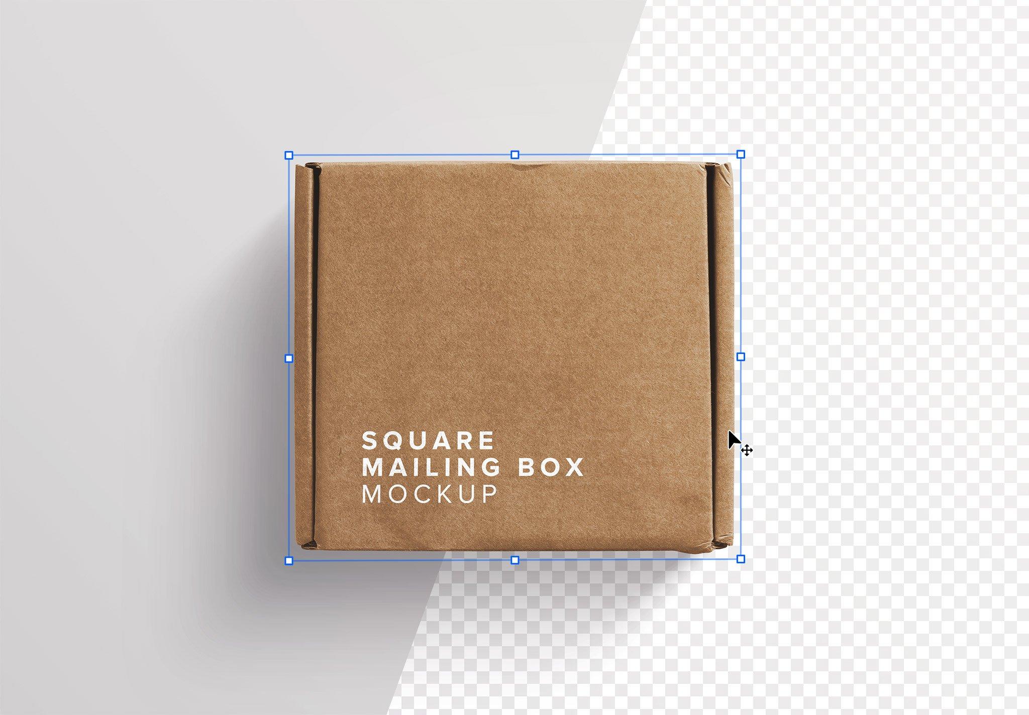Postal Square Box Mockup Image01