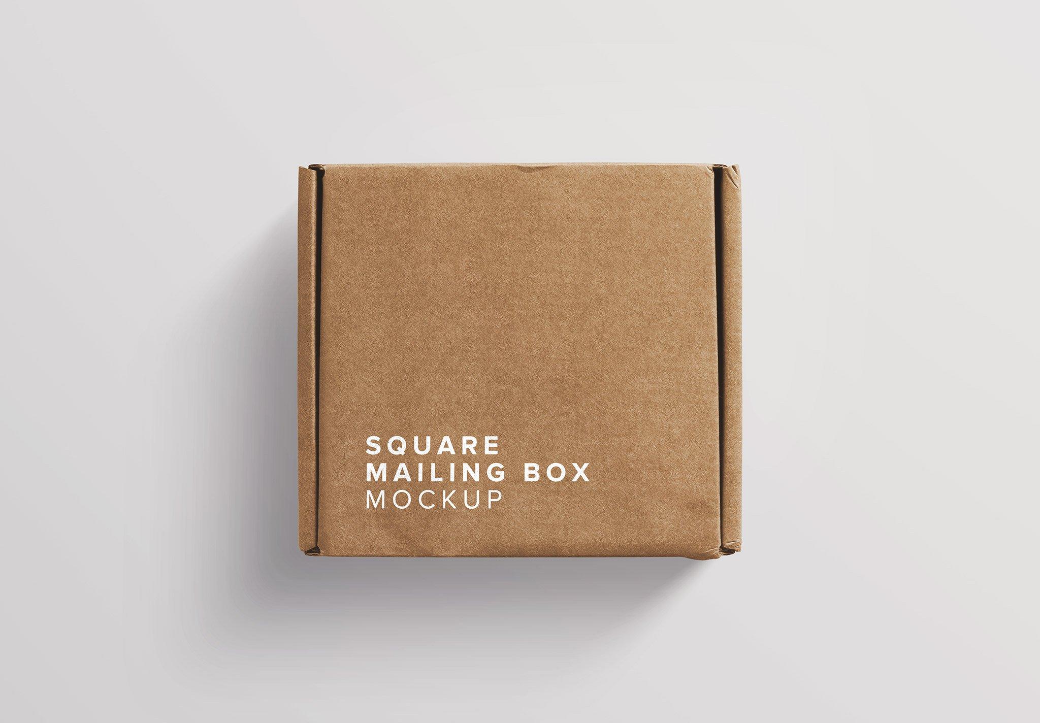 Postal Square Box Mockup Thumbnail
