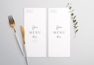 Table 4X9In Menu with Cutleries And Eucalyptus Thumbnail