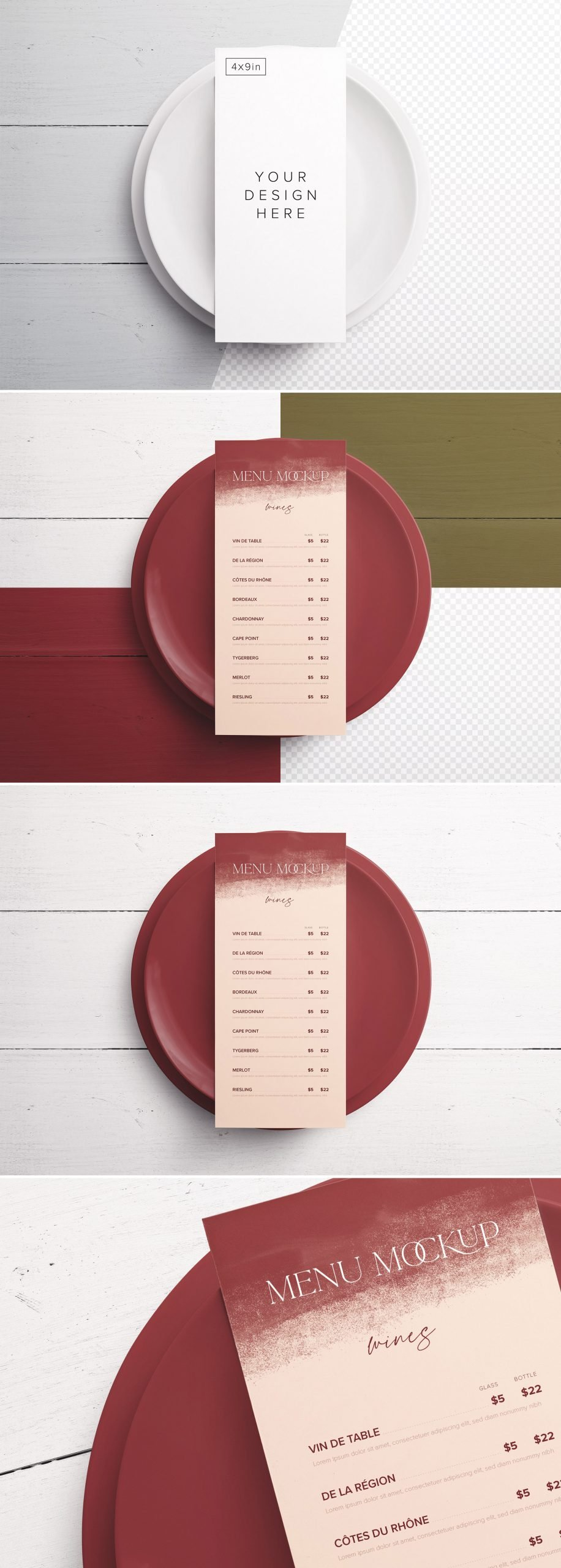 Table 4X9In Menu with Plates Preview scaled