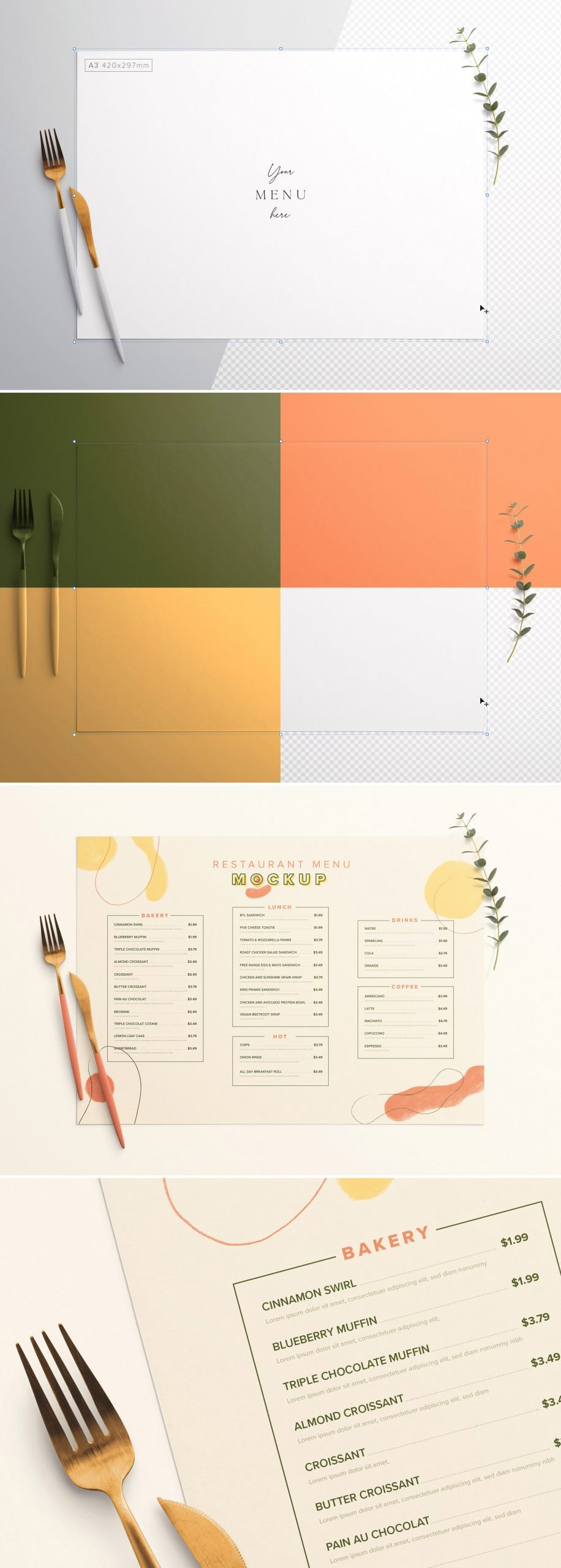 Table A3 Menu with Cutleries And Eucalyptus Preview scaled