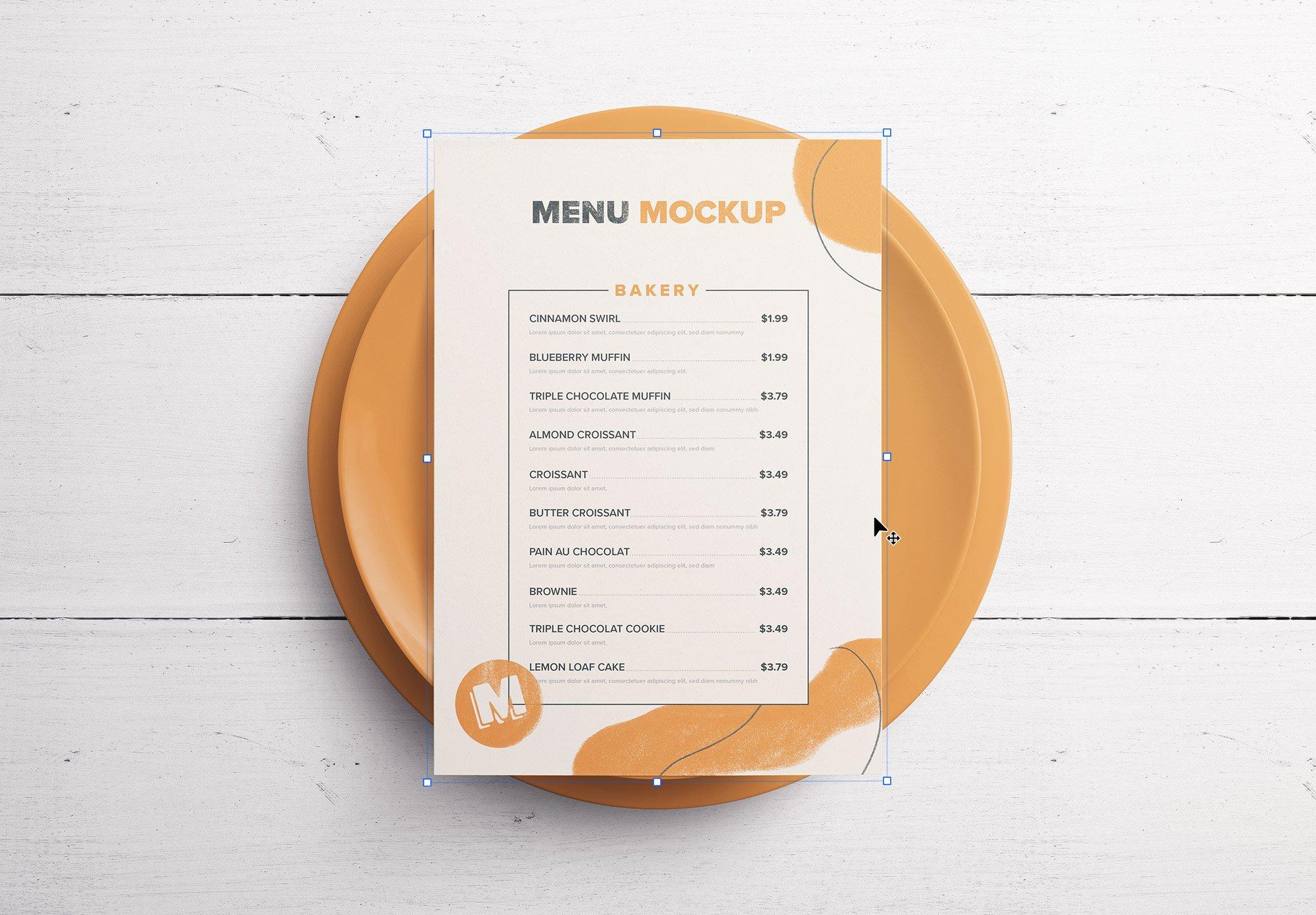 Table A5 Menu with Plates Thumbnail