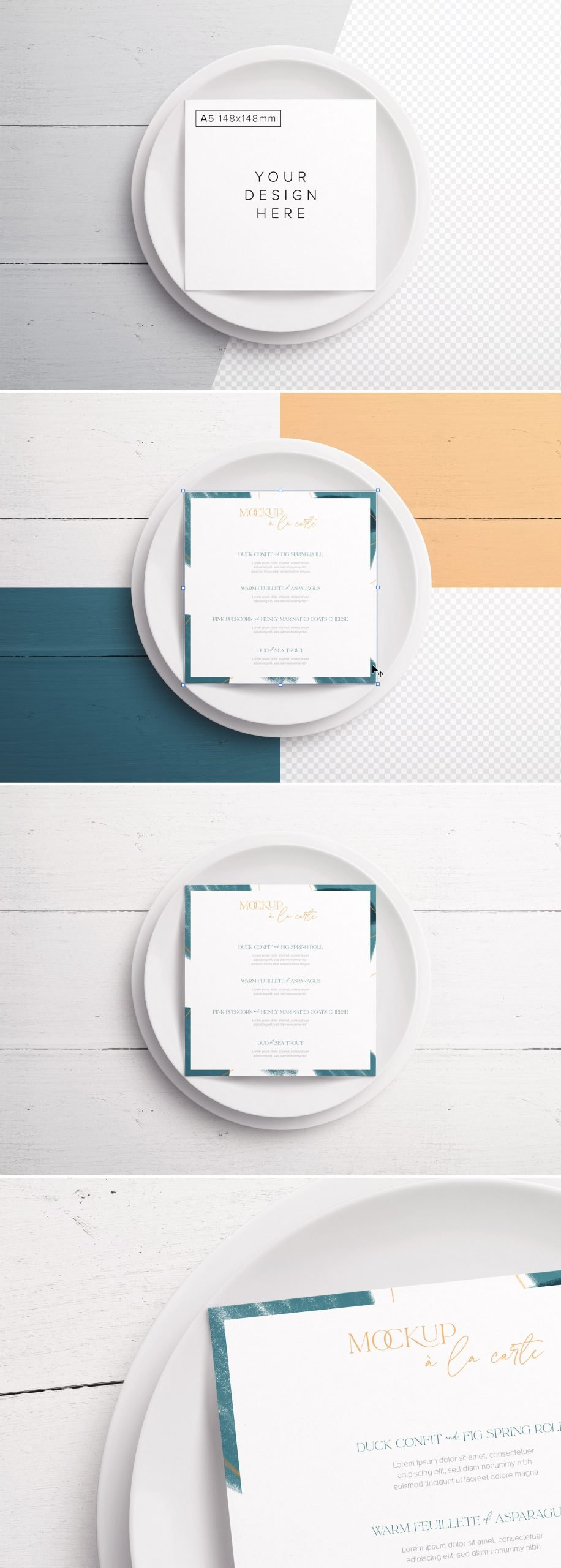 Table A5 Square Menu with Plates Preview scaled