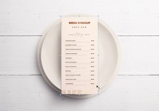 Table Dl Menu with Plates Thumbnail