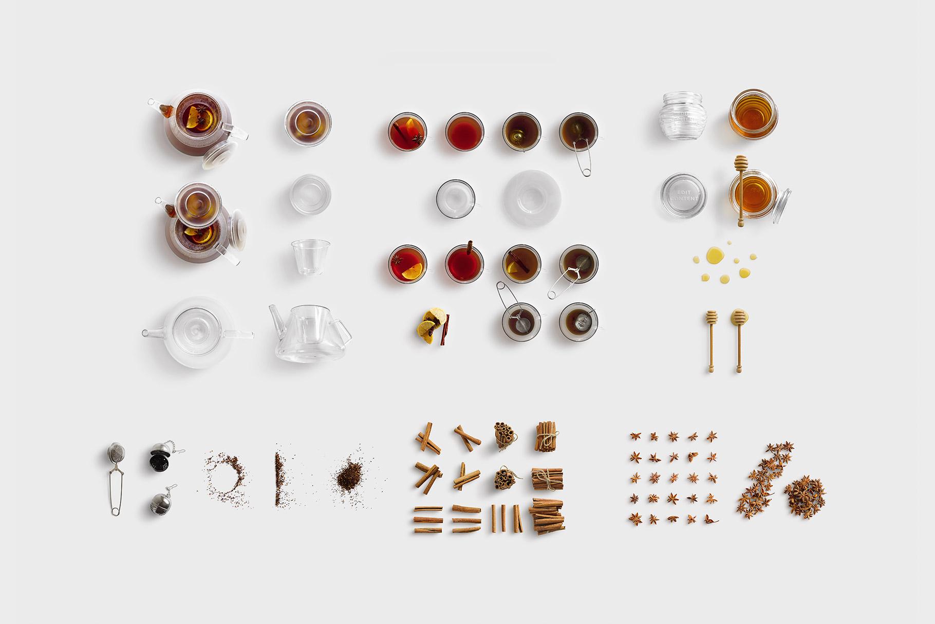 isolated objects drinks tea list customscene