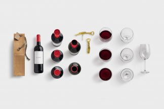 isolated objects drinks wine list customscene