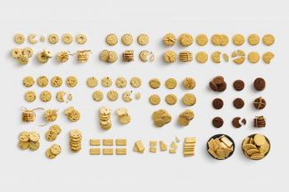 isolated objects food biscuits list customscene