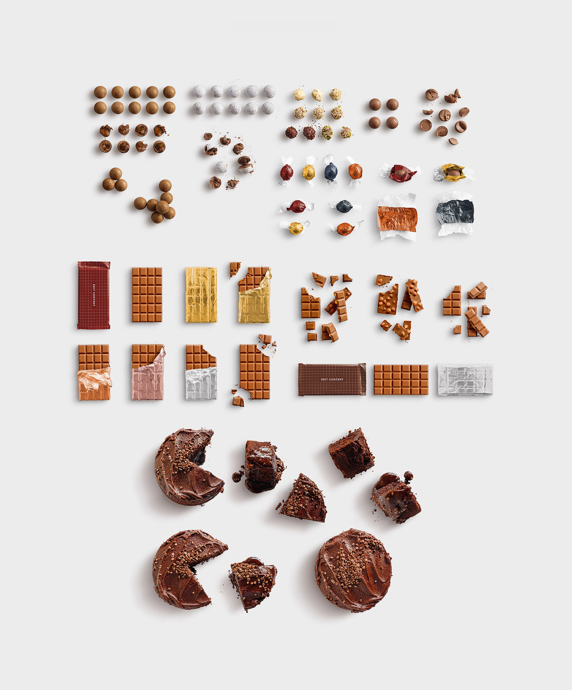 isolated objects food chocolate list customscene