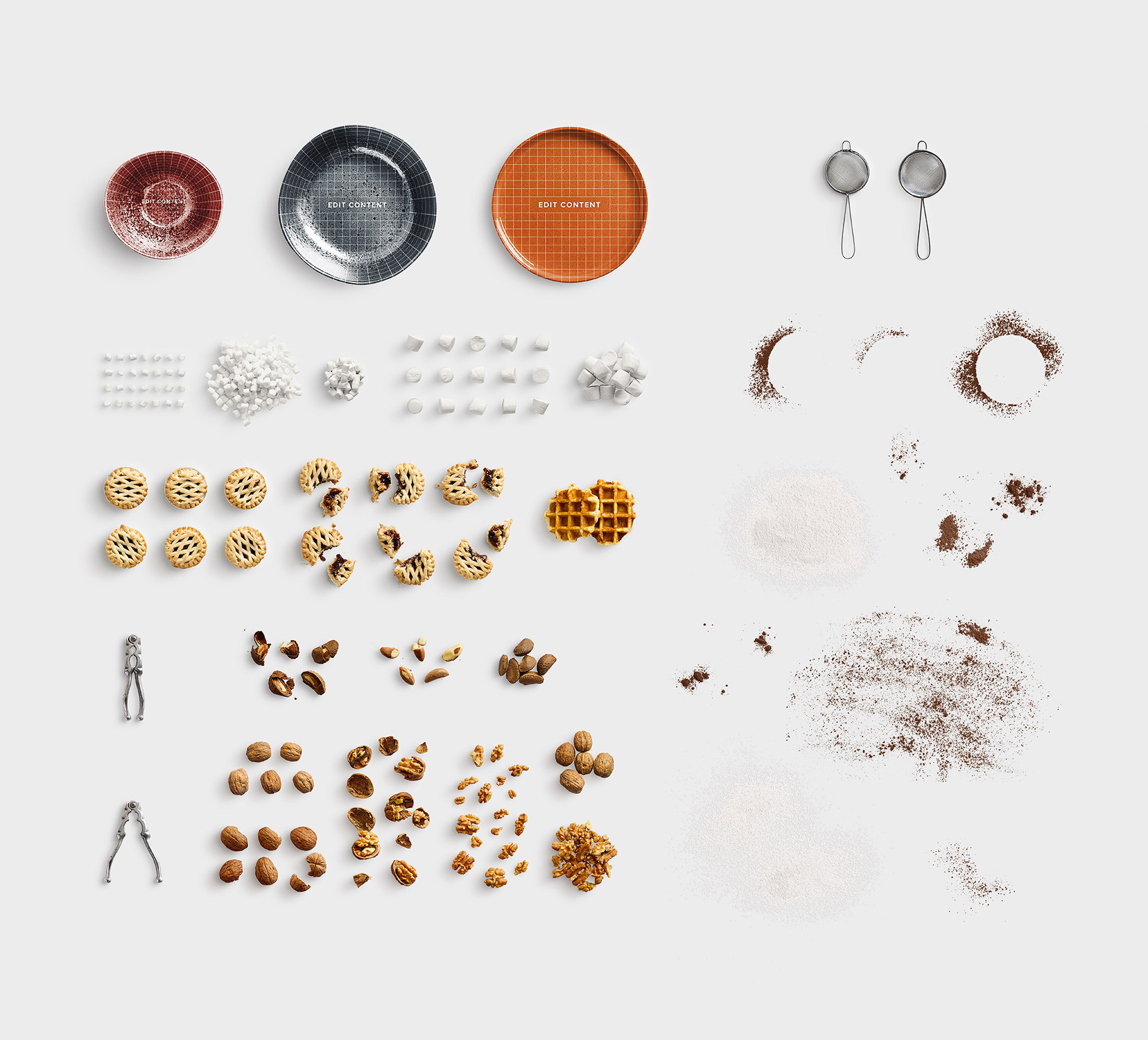isolated objects food list customscene