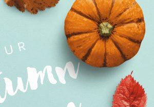 Autumn Frame Pumpkin and Leaves Mockup image04