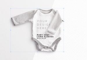 Baby Vest Long Sleeves 2 Mockup image01