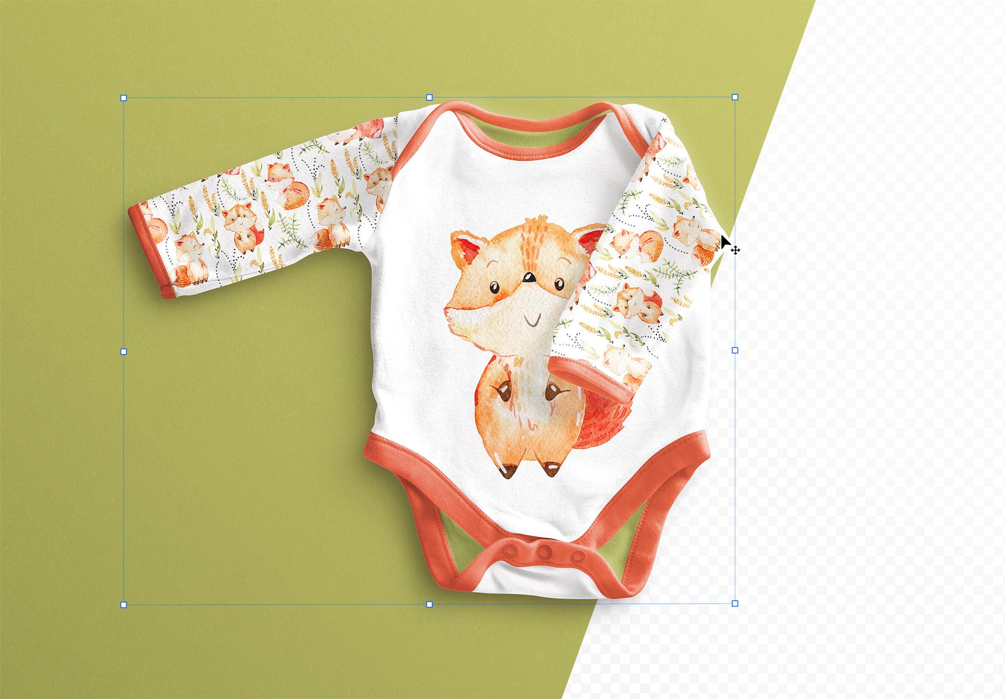Baby Vest Long Sleeves 2 Mockup thumbnail 1