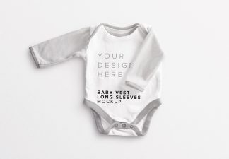 Baby Vest Long Sleeves 2 Mockup thumbnail
