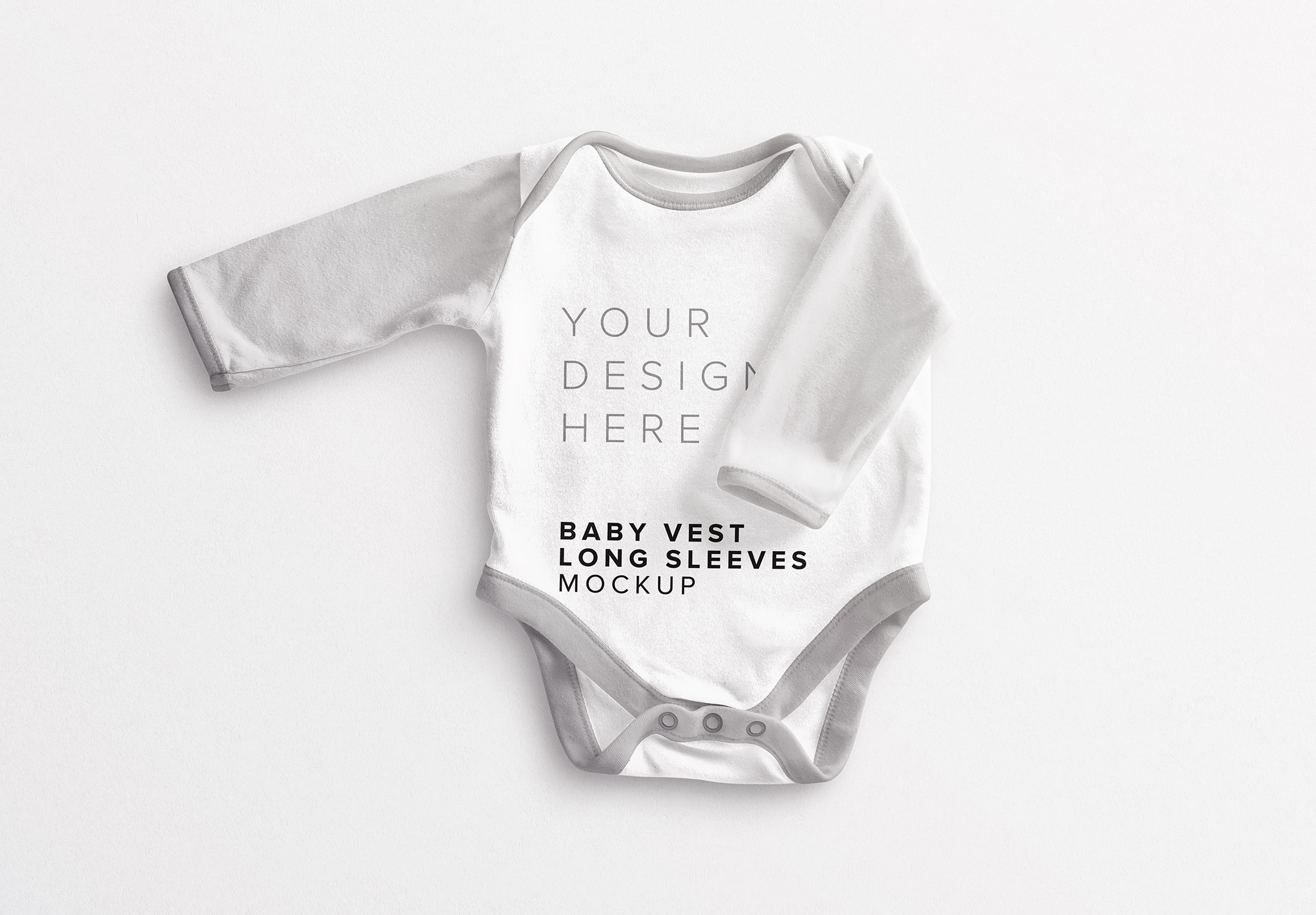 Baby Vest Long Sleeves 2 Mockup thumbnail
