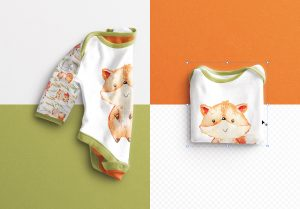 Baby Vest Long Sleeves Folded Mockup image02