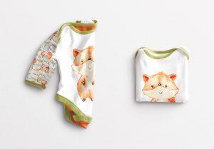 Baby Vest Long Sleeves Folded Mockup image03