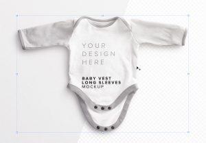 Baby Vest Long Sleeves Open Mockup image01