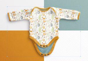 Baby Vest Long Sleeves Open Mockup image02