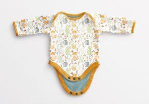 Baby Vest Long Sleeves Open Mockup image03