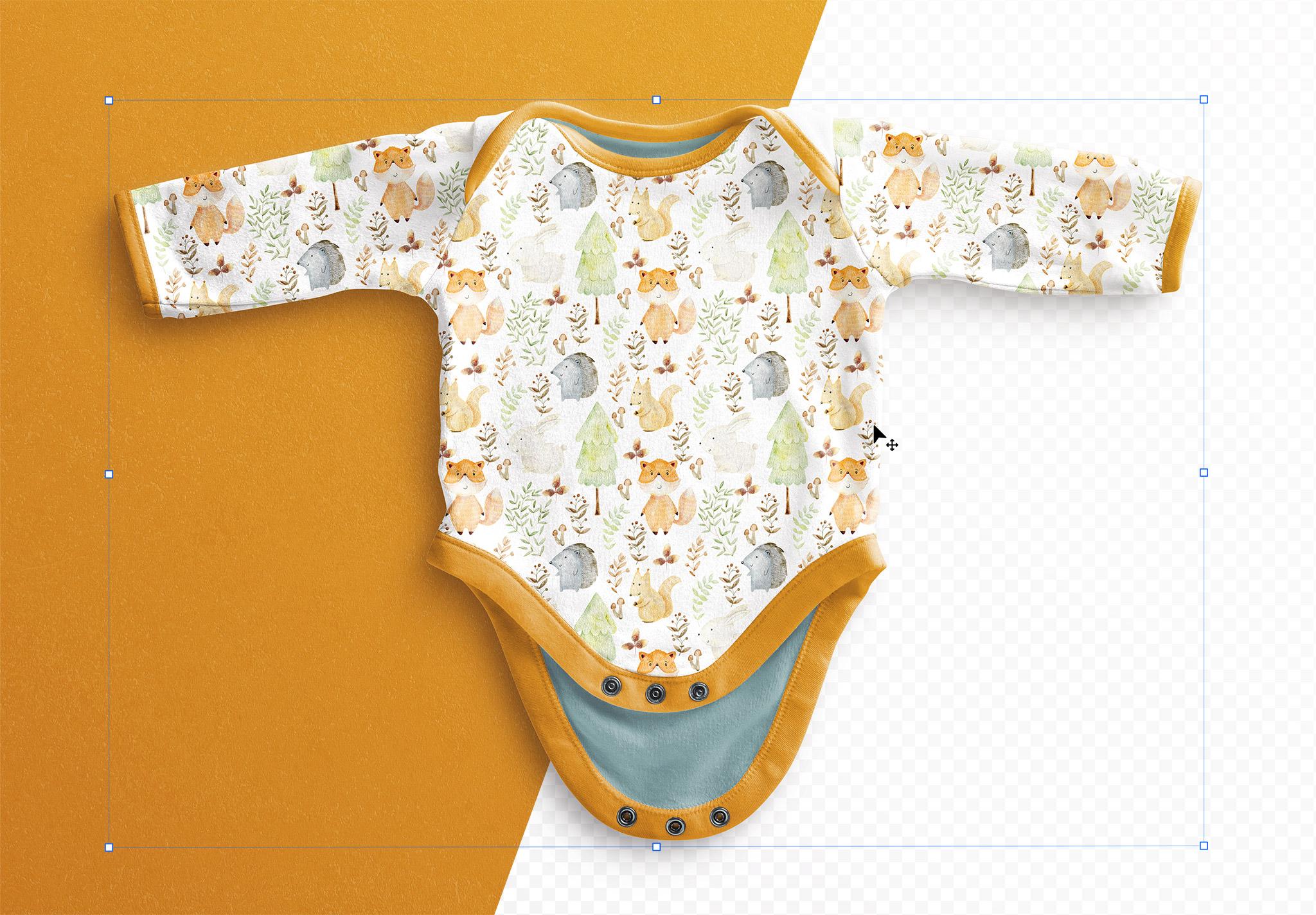 Baby Vest Long Sleeves Open Mockup thumbnail 1